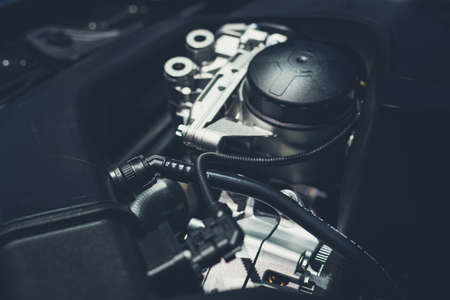 Close up shot of car engine for background Imagens - 108578417