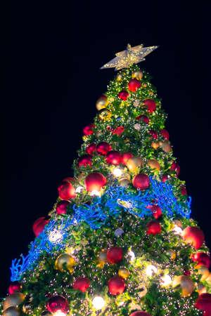 Weihnachtsbaum Hintergrund Standard-Bild