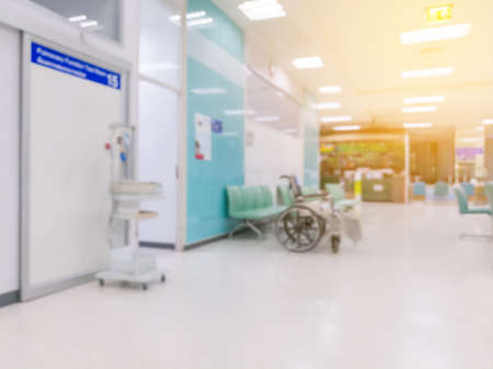 abstract hospital interior blur background Stok Fotoğraf