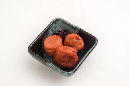 umeboshi with white background
