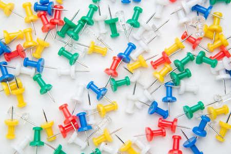 push: push pins Stock Photo