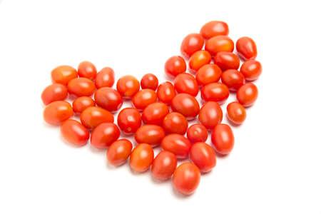 ハート形トマト 写真素材
