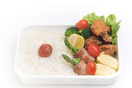 bento: homemade bento, mother`s tangue Stock Photo
