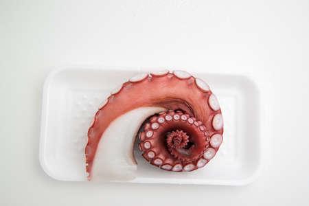 meat and alternatives: octopus leg for sashimi