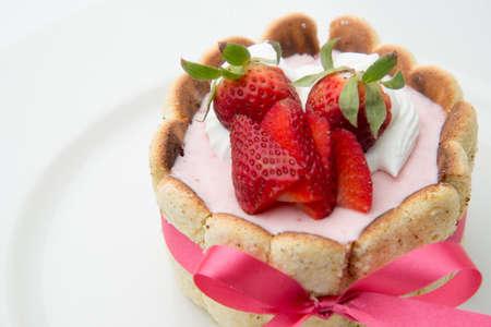 mousse: strawberry mousse Stock Photo