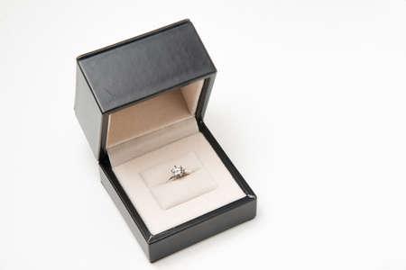 diamond ring in a box Stockfoto
