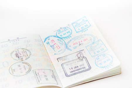 Sello de visa Foto de archivo - 56441517