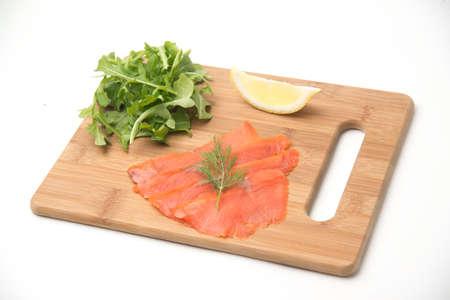 smoked salmon plate Imagens