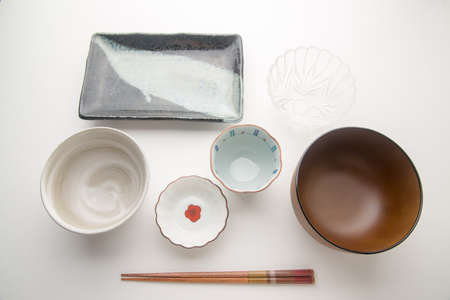table top: japanese table set