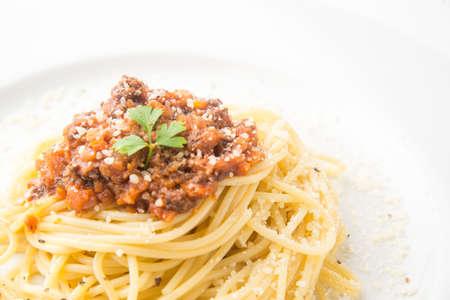 meat sauce spagetti Фото со стока