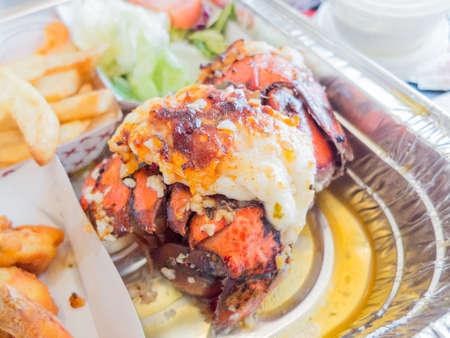grilled lobster tail Reklamní fotografie