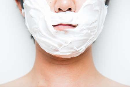 shaving face Banco de Imagens