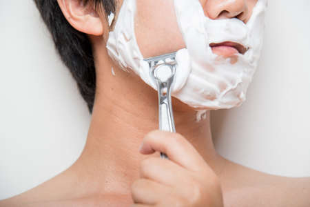 face to face: shaving face