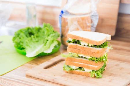 sandwitch: egg sandwitch at kitchen