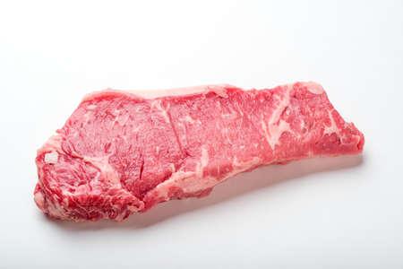 raw new york strip steak
