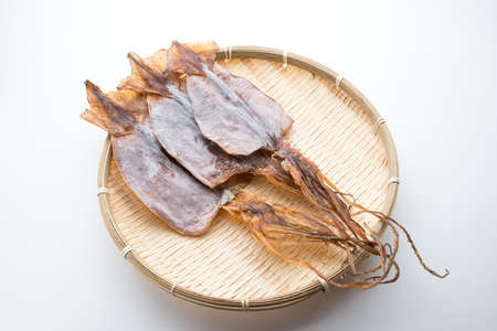 japanese dried squid, atarime Stock Photo