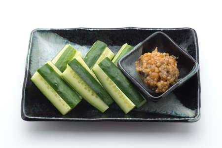 cucumber with japanese dip, Kinzanji Miso