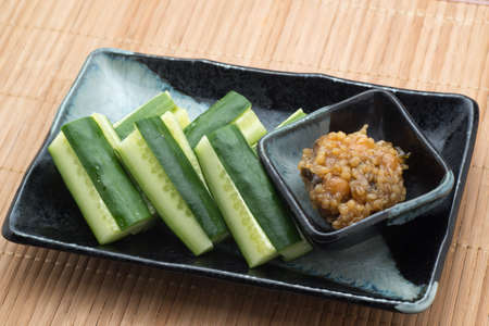 cucumber with japanese dip, Kinzanji Miso