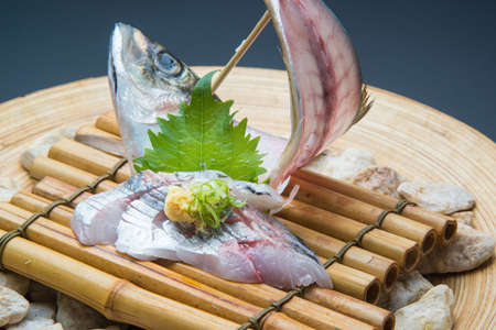 whole fish platter of  horse mackerel