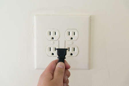power socket and plug Banque d'images