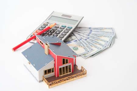 house, money and calculator
