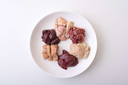beef guts, horumon for japanese yakiniku Stock Photo