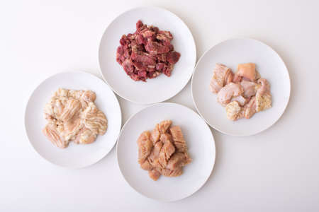 beef guts, horumon for japanese yakiniku 版權商用圖片