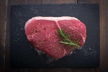 raw beef, cross rib chunk