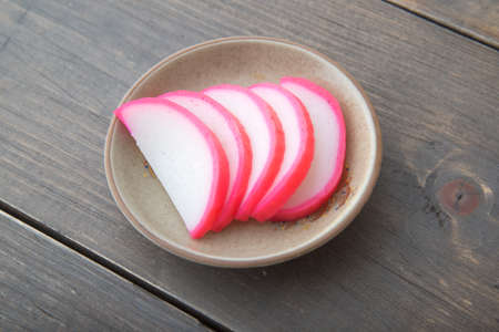 kamaboko, boiled fish paste 免版税图像