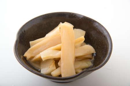 bamboescheuten voor ramen Stockfoto
