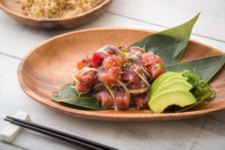 hawaiian ahi poke Stock Photo