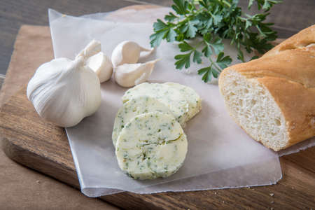 garlic butter with bread