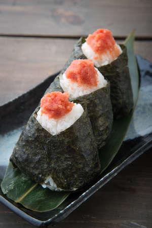 Japanese Onigiri with Tarako and Cod Roe