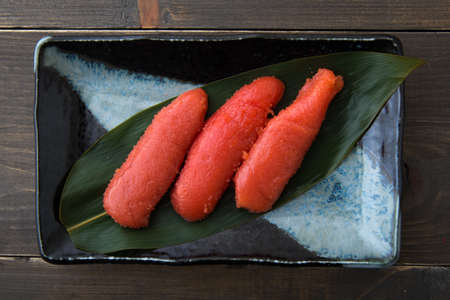 Tarako, Roe de bacalhau japonês Foto de archivo - 88837499