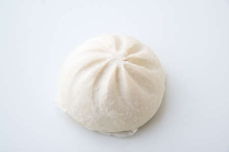 isolated steamed chinese pork bun