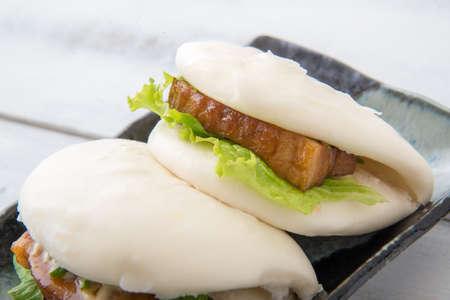 japanese style pork buns with pork belly