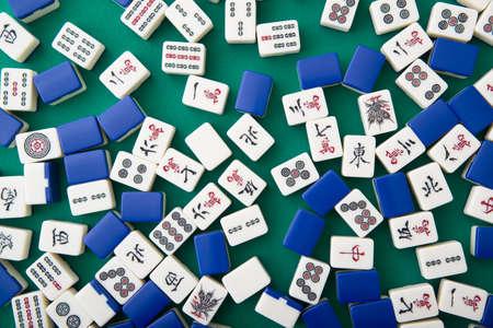 mahjong tiles for background