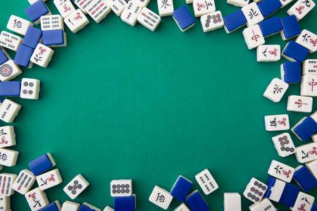 Mahjong tegels voor achtergrond Stockfoto - 92495243