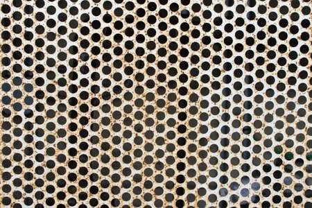 rustic steel wall Imagens