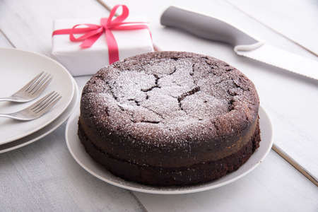 franch style chocolate cake