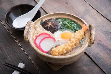 nabeyaki style japanese udon Stock Photo