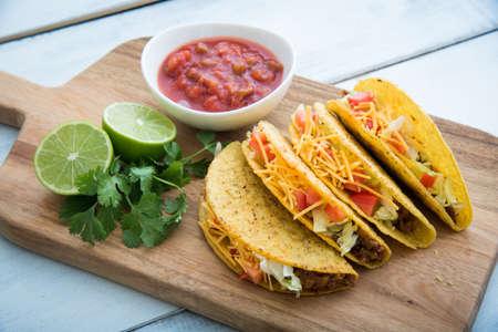 hard shell tacos Stock Photo