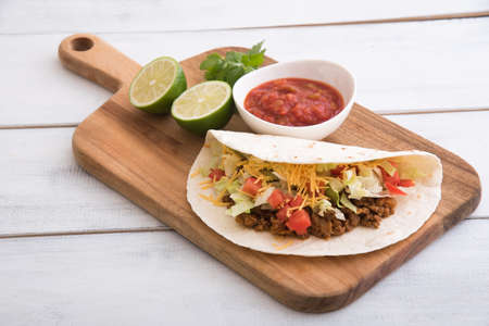 soft shell beef tacos Stock Photo
