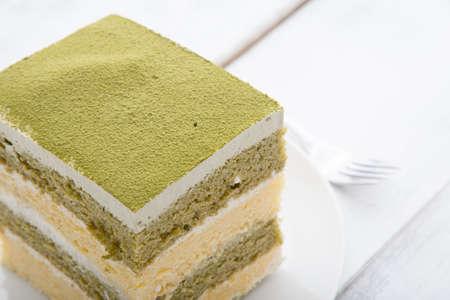 greentea tiramisu cake