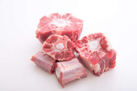 isolated oxtail on white background