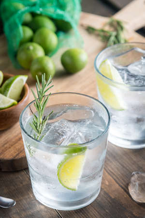 fresh gin tonic Stock Photo
