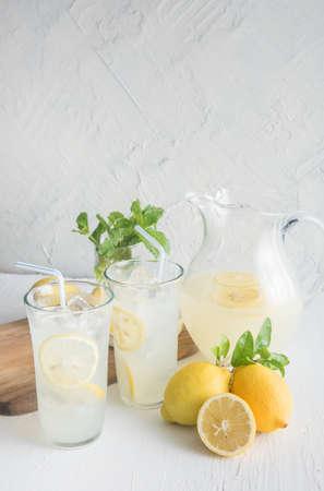lemonade in glasses amd pitcher