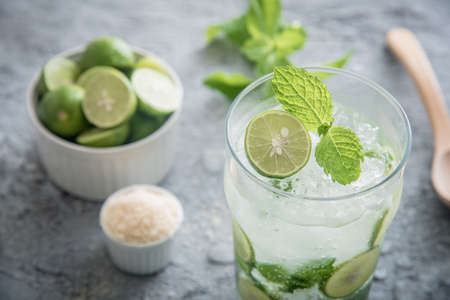 mojito with ingredients Stock Photo