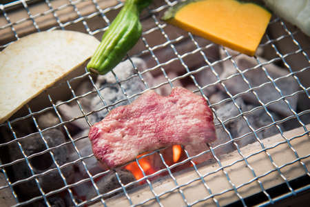 beef tongue Yakiniku, japanese bbq image