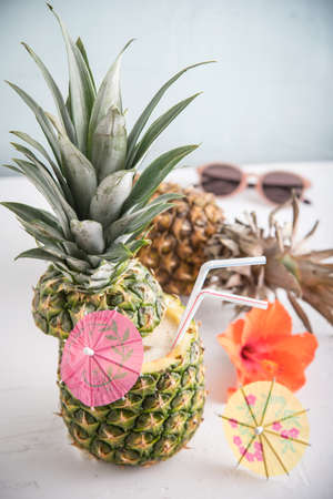 whole pineapple cocktail